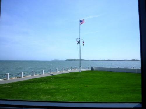 前庭からの景色:JFKとマサチューセッツ!