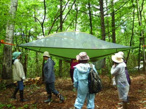 イギリス製空中テントも特別展示