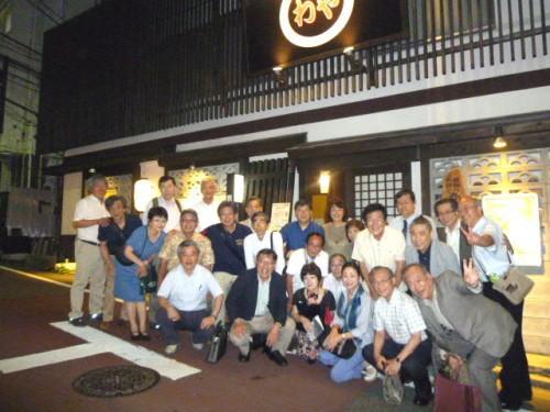 同窓会後は恒例の東京在住の同期会