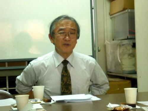 勉強会での藤井茂先生