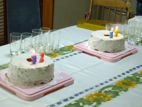 9月23日は母・寿美と叔母・ちよの誕生祝!ケーキの上には年齢の数字!