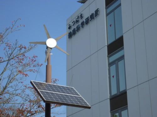 自家発電で敷地街灯の電気を賄っています