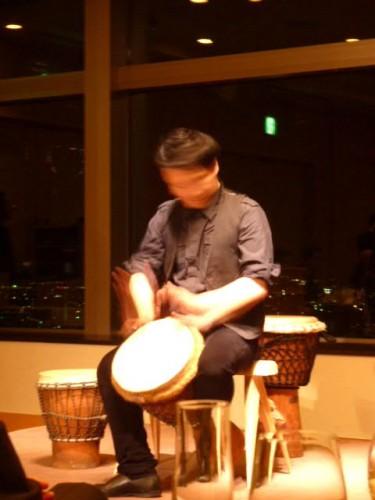 縄文太鼓とアフリカのコラボ