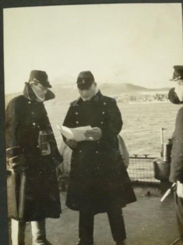 アリューシャン洋上・旗艦「阿武隈」甲板で