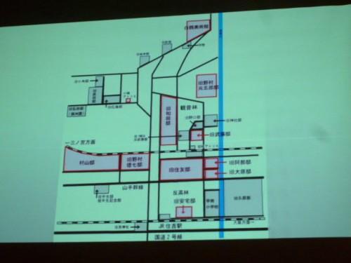 京都の古地図、著名な御家のお名前がずらり軒を並べて