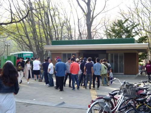 5日の円山公園、さらに人が増えて