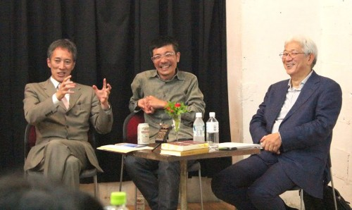 左から斎藤歩さん、清水友陽さん、西堂行人さん(札幌座クラブFBページより)