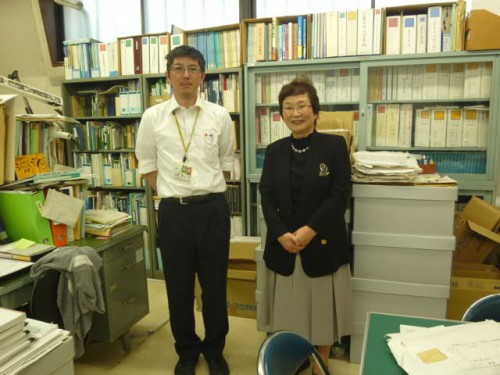 郷土歴史研究家・中澤惠子先生と学芸員・土屋雅人さん