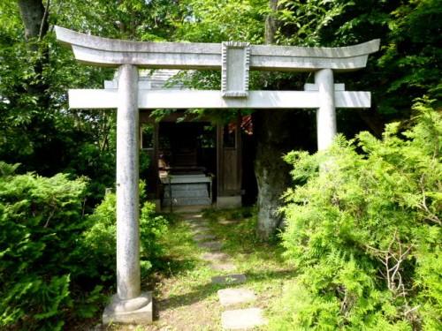 門横の敷地内には鳥居・神社も