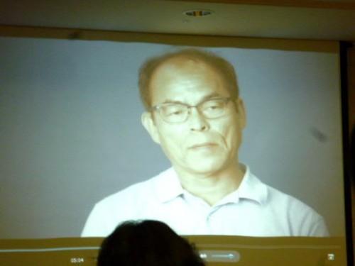 ビデオメッセージで中村先生