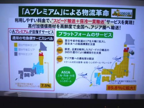 青森県の提唱する「Aプレミアム」の物流戦略