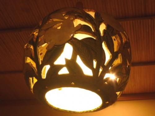 灯りの装飾はウサギ