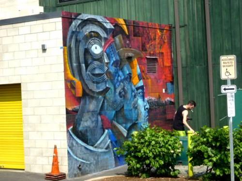 壁アートも盛ん!