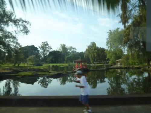 ヒロの港近くの日本庭園