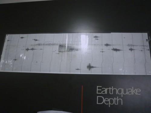 中央の幅広く長いのが3・11の地震記録