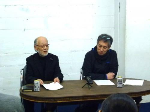代表世話人の蔵さんと事務局長の斉藤歩さん