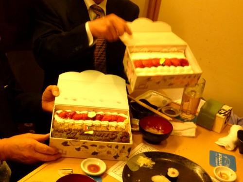 お土産としてエゴマのショートケーキ