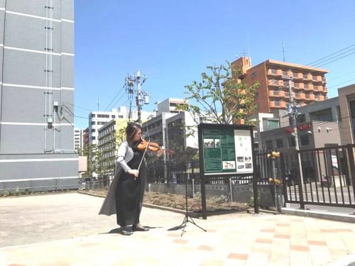 杉田知子さんのバイオリン演奏!