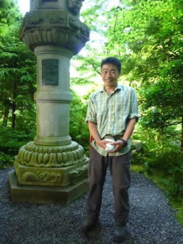 庭園管理・学芸主任のRyo Sugiyamaさん