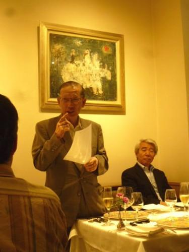 初代代表幹事の竹内先生