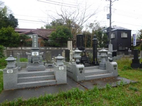 本家・分家のお墓群:お寺の境内だった場