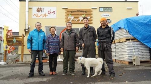 中央・横山愛慈社長、札幌でお世話になった右端・奥山さん、その左・設楽さん