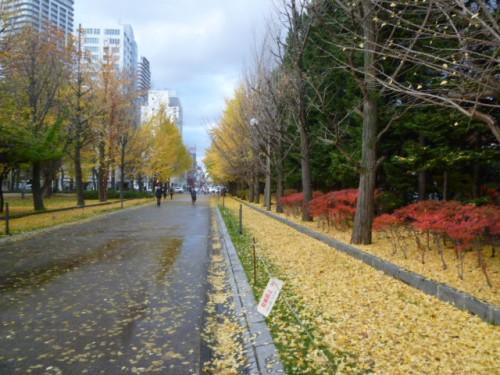 札幌中島公園の秋深く