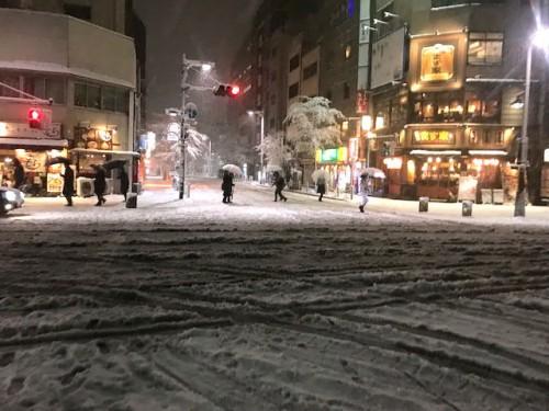 午後からの雪で