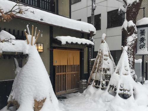 冬の玄関口