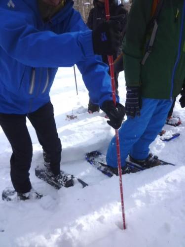 積雪は120センチ