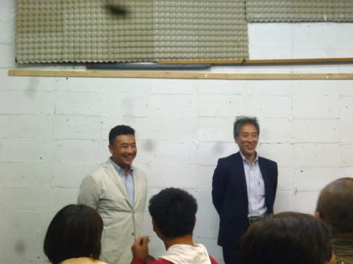 佐川光晴さんと斎藤歩さん
