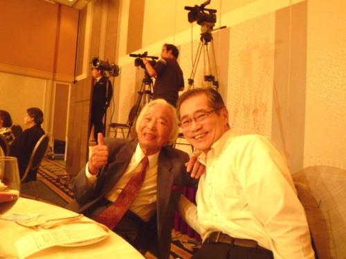 私のチェロの恩師・上原与四郎先生もお越し頂きました!
