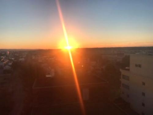 二日目の朝、十勝平野の日の出!