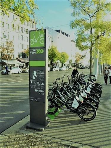 シェア自転車の置き場