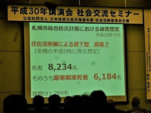 直下型地震での想定犠牲者数
