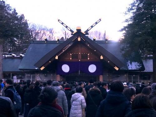北海道神宮にて