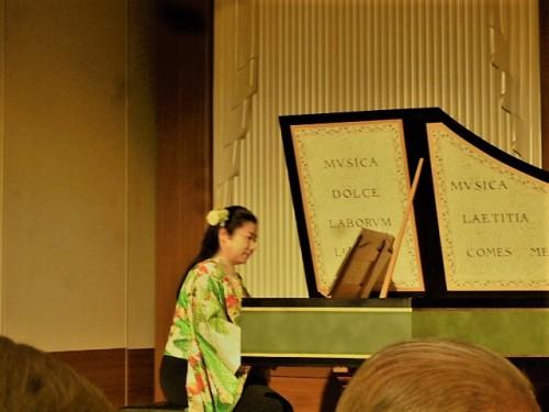 オープニングは明楽さんのチェンバロ演奏