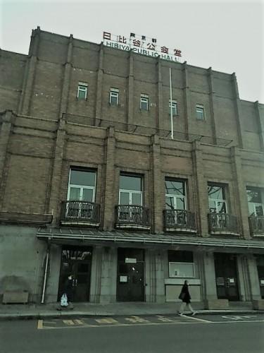 夕暮れの日比谷公会堂