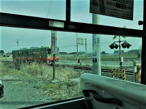 珍しく電車