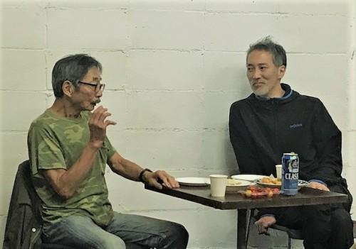 三田村周三さんと斎藤歩