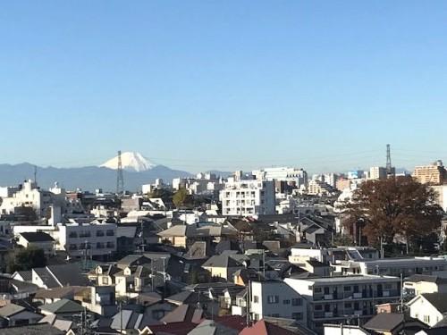 マンションから見事な富士山!