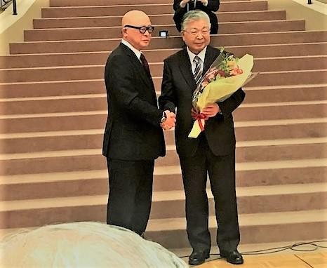渡会代表と吉岡事務局長