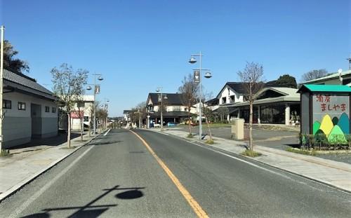 益子町のメイン通り