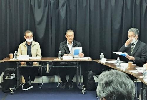 開催責任者として理事長の私、説明は専務理事の斎藤歩