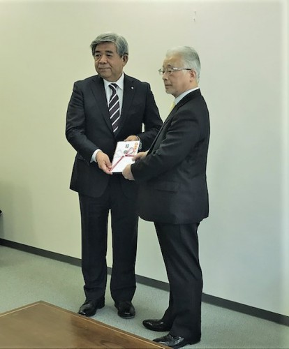 町長と松井理事長