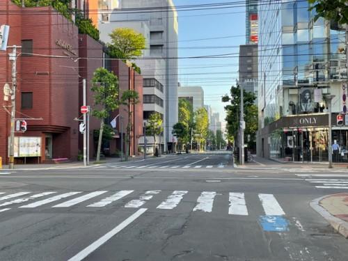 ホテルオークラ札幌の通り