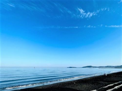 千葉県館山市鏡ケ浦の夏の朝!